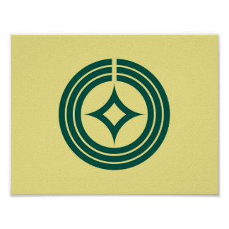 Kawaguchi city flag Saitama prefecture japan symbo Poster