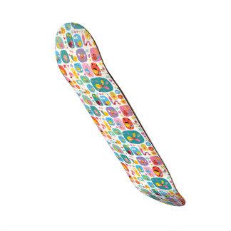Kawai bugs multi color fun cute kids girly happy custom skate board