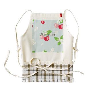 kawai,cherry,cute,trendy,girly,floral,modern,kids, zazzle HEART apron