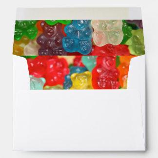 Kawai gummibears cute trendy girly kids fun colors envelope