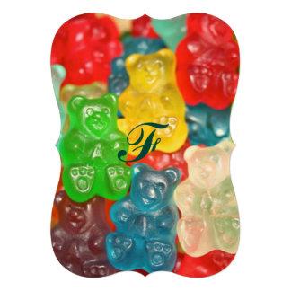 Kawai gummibears cute trendy girly kids fun colors card