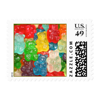 Kawai gummibears cute trendy girly kids fun colors postage