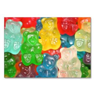 Kawai gummibears cute trendy girly kids fun colors table card