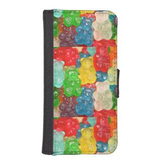 Kawai gummibears cute trendy girly kids fun colors wallet phone case for iPhone SE/5/5s