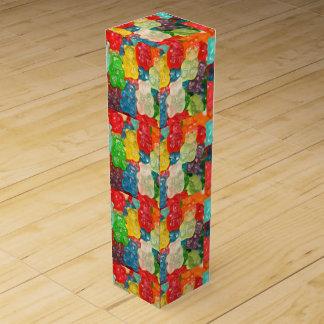 Kawai gummibears cute trendy girly kids fun colors wine gift box