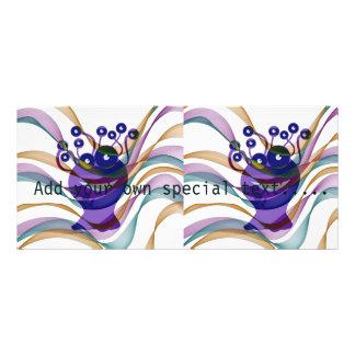 Kawai monster,colorful,abstract,fun,happy,kids rack card