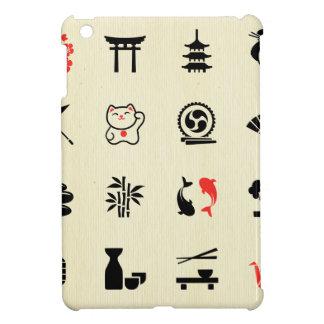 Kawai multi color asian good luck symbols cute fun iPad mini covers