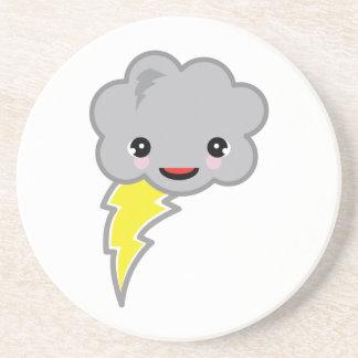 kawai storm cloud drink coaster