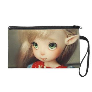 kawaii adorable elf doll bjd beautiful pretty girl wristlet clutches