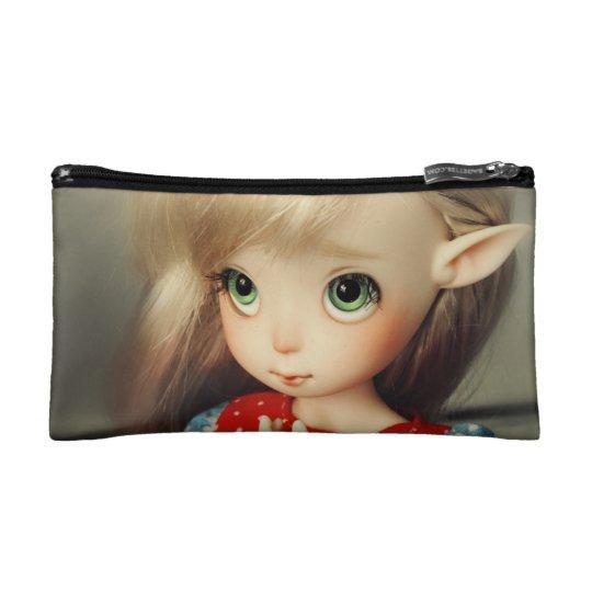 kawaii adorable elf doll bjd beautiful pretty girl cosmetic bag