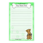 Kawaii Airedale Terrier Stationery