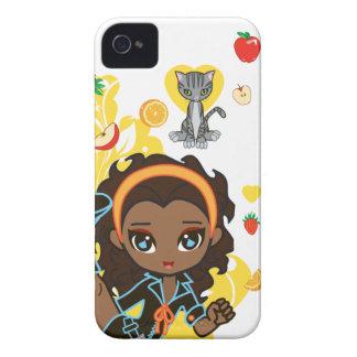 Kawaii Aisha el Chibi afroamericano 9700/9780 Carcasa Para iPhone 4