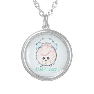 Kawaii Alarm Clock Personalized Necklace