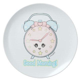 Kawaii Alarm Clock Plate