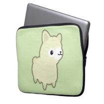 Kawaii alpaca computer sleeve