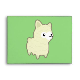 Kawaii alpaca envelope