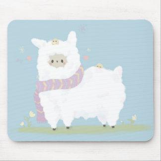 Kawaii Alpaca Mousepad. Mouse Pad