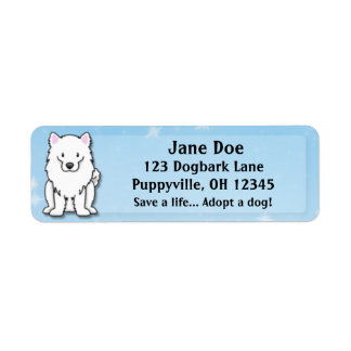 Kawaii American Eskimo Dog Label