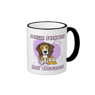 Kawaii American Foxhound Rally Obedience Coffee Mug