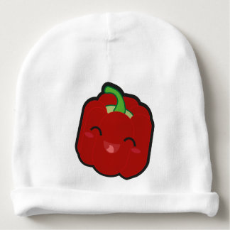 Kawaii and funny red pepper baby beanie