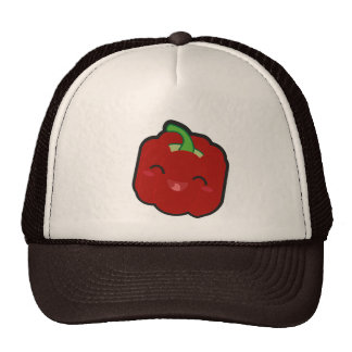 Kawaii and funny red pepper trucker hat