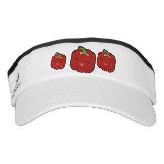 Kawaii and funny red pepper visor