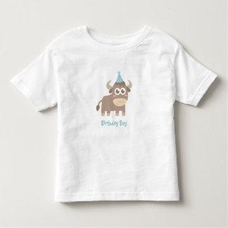 Kawaii and Happy Bull with Polka Dots Party Hat T-shirt