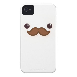 Kawaii angry mustache iPhone 4 cases