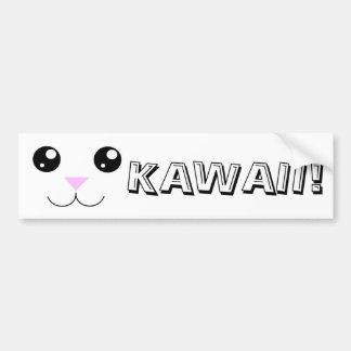 Kawaii Animal Face Bumper Sticker