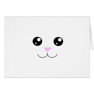 Kawaii Animal Face Card