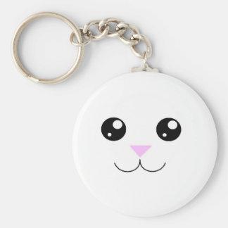 Kawaii Animal Face Keychain