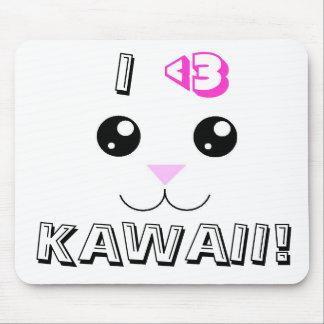 Kawaii Animal Face Mouse Pad
