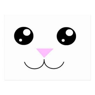 Kawaii Animal Face Postcard