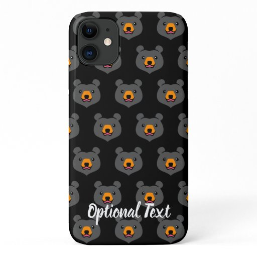 Kawaii Animal Lover Cartoon Black Bear iPhone 11 Case