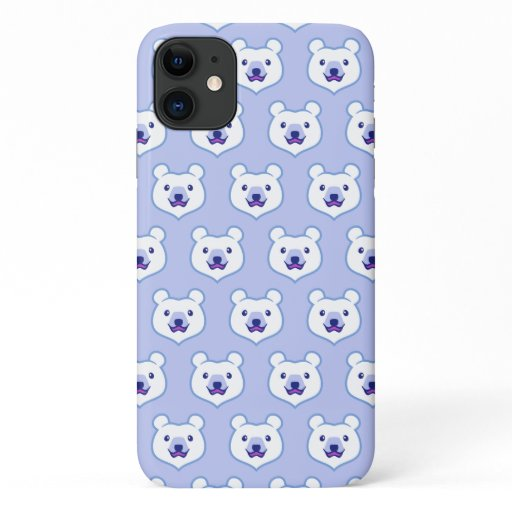 Kawaii Animal Lover Cartoon Polar Bear iPhone 11 Case