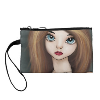 Kawaii Anime Girl Doll Manga Japanese Coin Purse