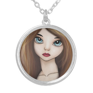 Kawaii Anime Girl Doll Manga Japanese Necklace