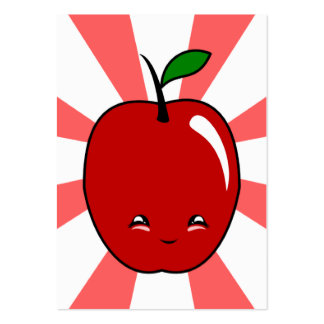 Kawaii Apple (Boy) Business Card Templates