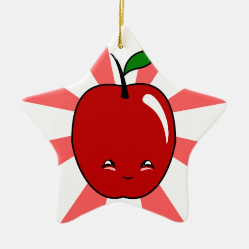 Kawaii Apple (Boy) Christmas Tree Ornament