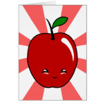 Kawaii Apple (Boy) Greeting Card