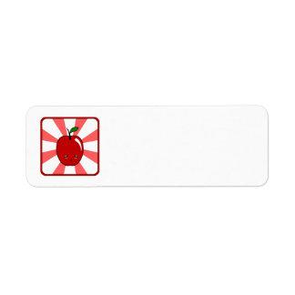 Kawaii Apple (Boy) Custom Return Address Label