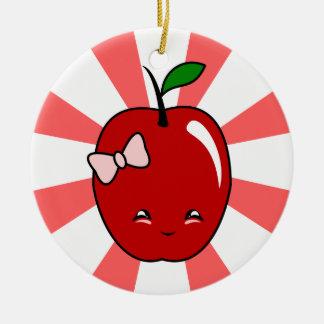 Kawaii Apple chica Ornamento Para Arbol De Navidad