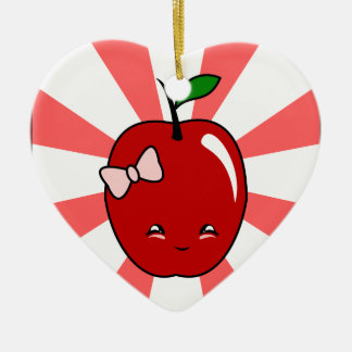 Kawaii Apple chica Ornamente De Reyes