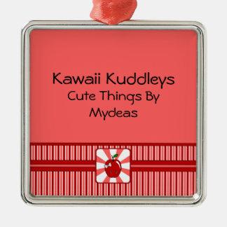 Kawaii Apple (chica) Ornamento De Navidad