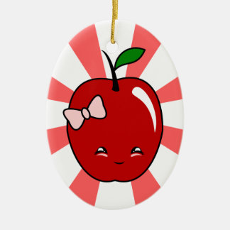 Kawaii Apple chica Ornaments Para Arbol De Navidad