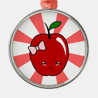Kawaii Apple chica Adornos De Navidad