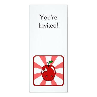 """Kawaii Apple (chica) Invitación 4"""" X 9.25"""""""