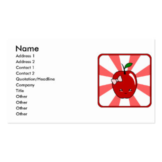 Kawaii Apple (Girl) Business Card