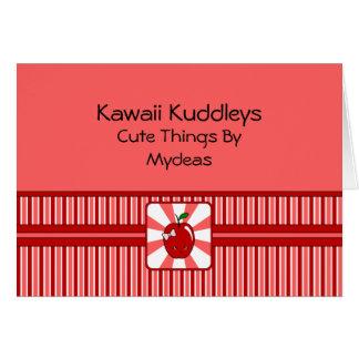 Kawaii Apple (Girl) Card