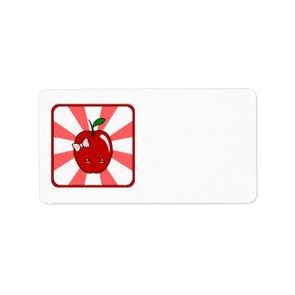 Kawaii Apple (Girl) Custom Address Labels